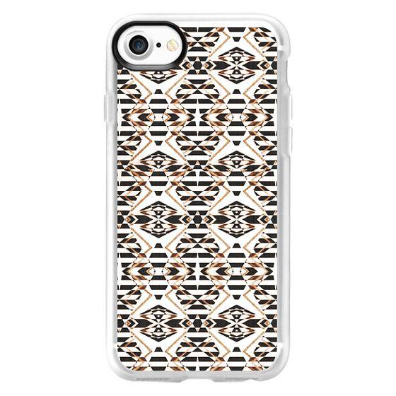 iPhone 6s Cases - Black white gold stripes