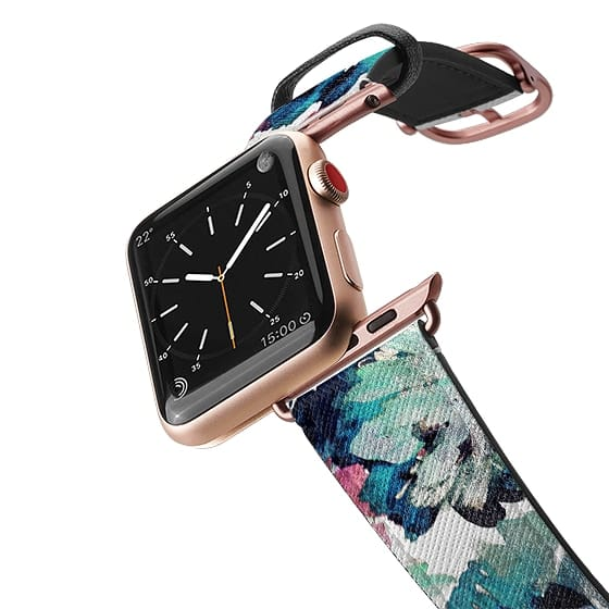 Apple Watch 42mm Bands - Abstract petals green paint
