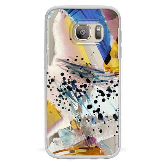 Galaxy S7 เคส - Colourful watercolor paint