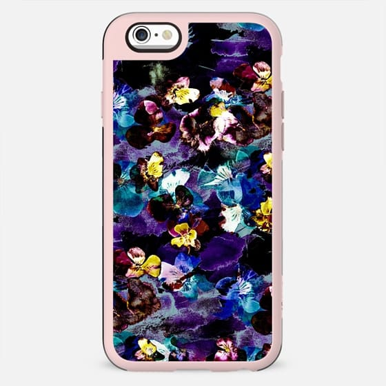 Stylised painted pansies - New Standard Case