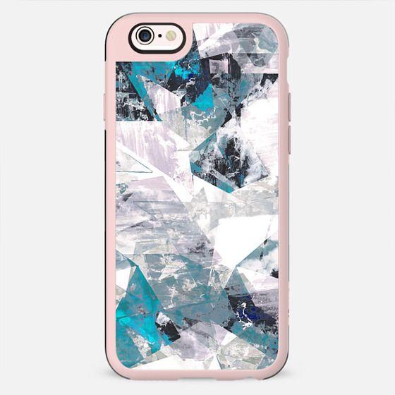 Textured blue rock triangles - New Standard Case