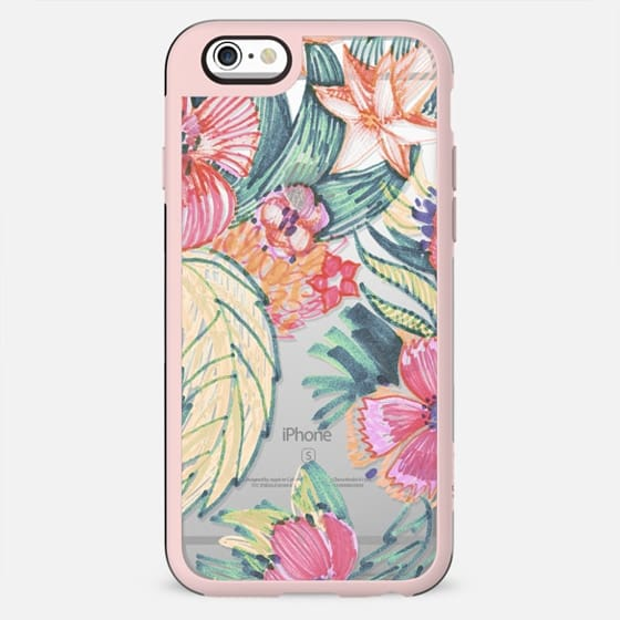 Hand sketched colourful flowers - New Standard Case