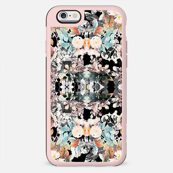 Grunge painted roses and autumn leaves - New Standard Case
