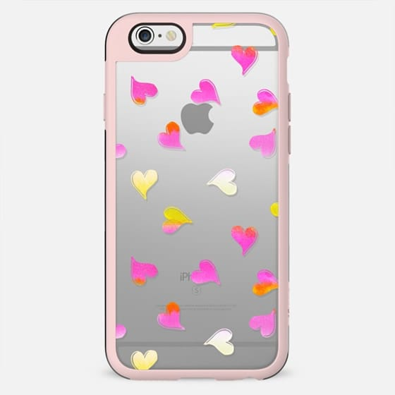 Pink yellow hearts - New Standard Case