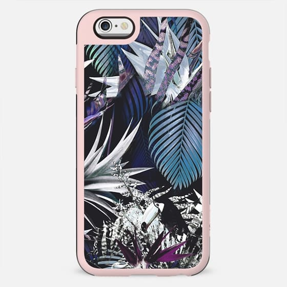 Silver tropical foliage and parrot - New Standard Case