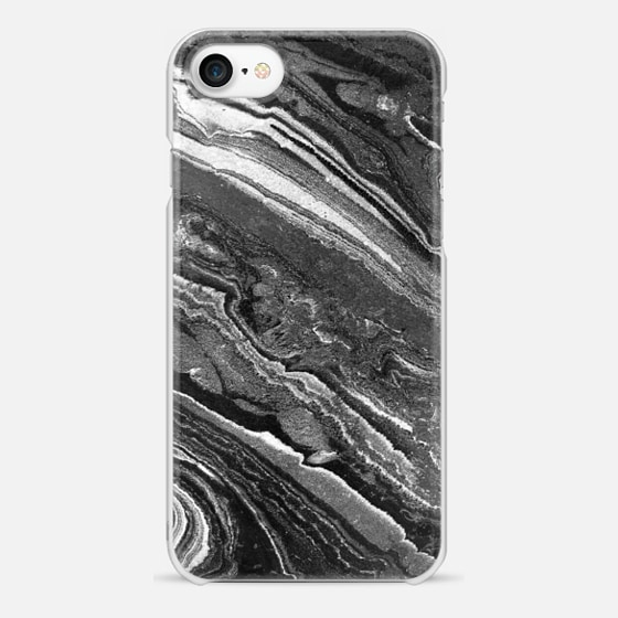 iPhone 7 Hülle - Monochrome marble lines