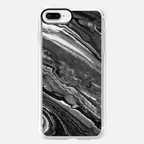 iPhone 8 Plus Case - Monochrome marble lines