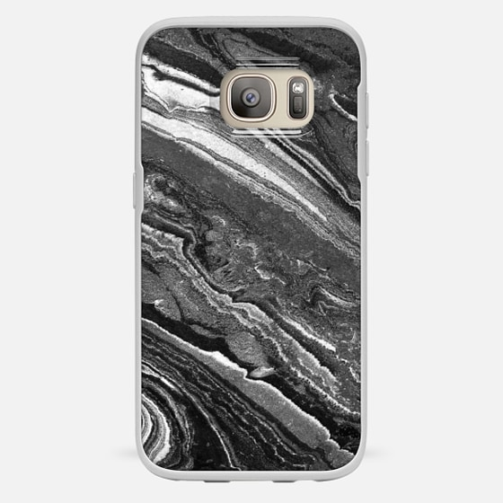 Galaxy S7 เคส - Monochrome marble lines