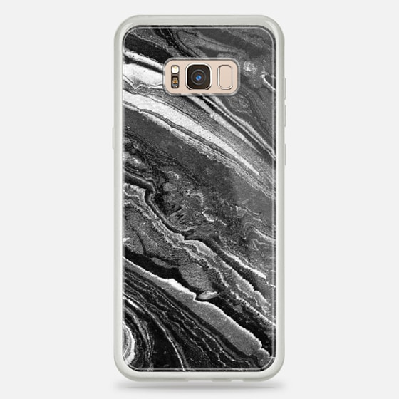 Galaxy S8+ Case - Monochrome marble lines