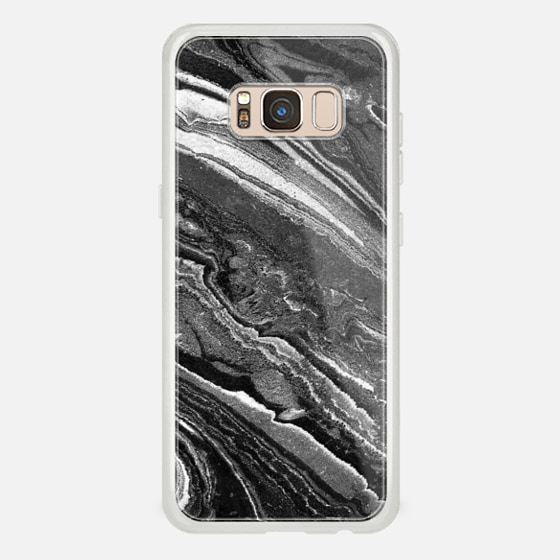 Galaxy S8 Case - Monochrome marble lines