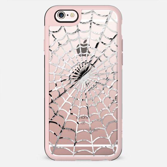 White spider web - Halloween clear case - New Standard Case