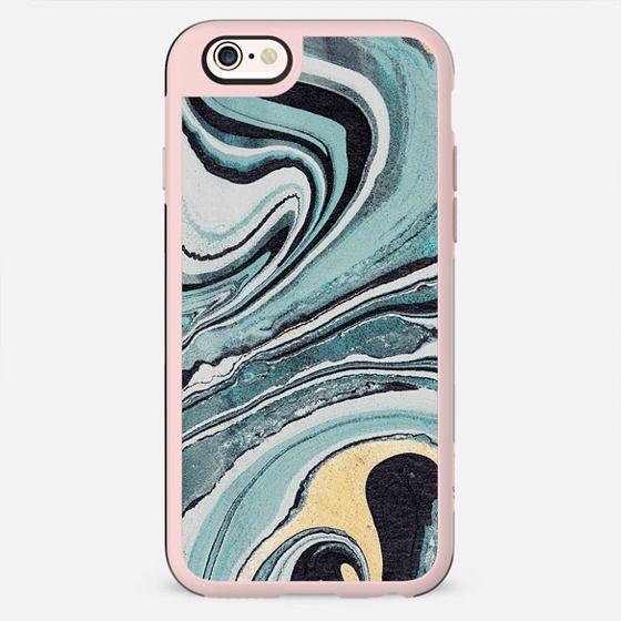 Liquid turquoise marble swirl - New Standard Case