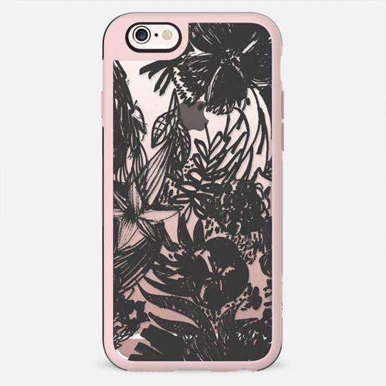 Black line art flowers - New Standard Case