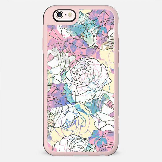 Liniar pink roses