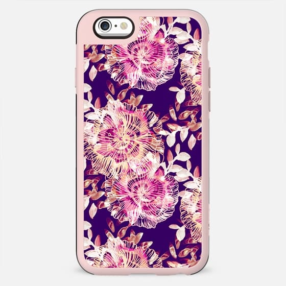 Pink hand painted flowers