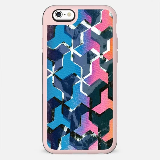Colourful geometric marble collage - New Standard Case