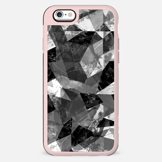 Geometric cut-out flower print - New Standard Case