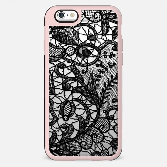 Black lace - clear case - New Standard Case