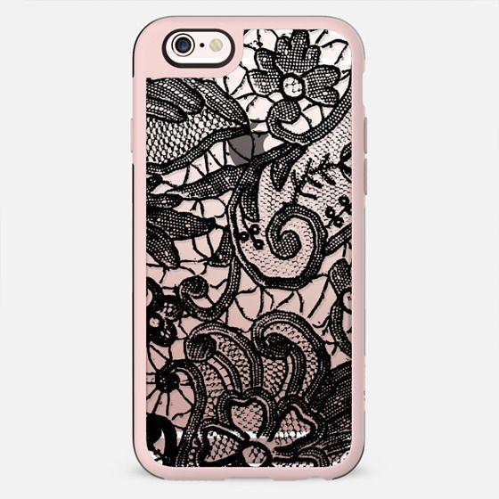Black lace - clear case - New Standard Case