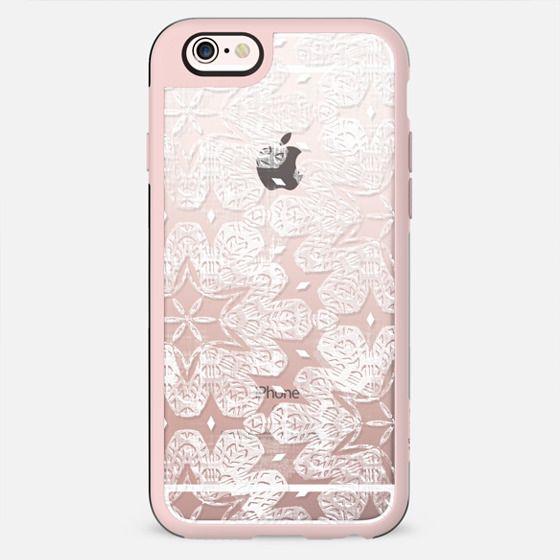 Transparent white lace pattern - New Standard Case