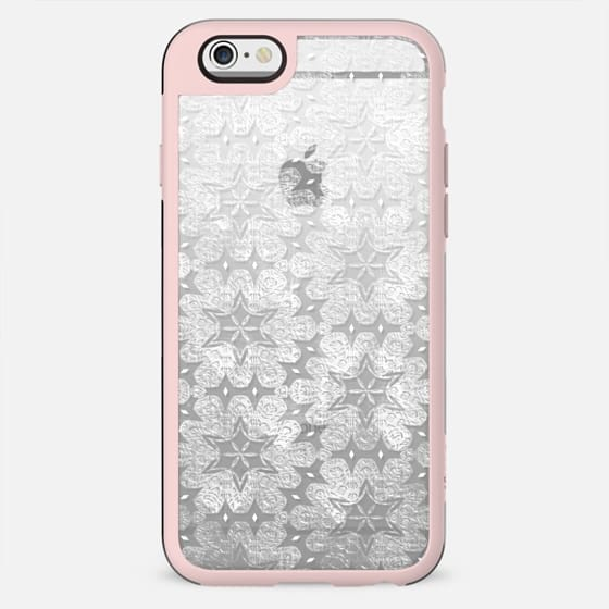 Transparent white textured lace - New Standard Case