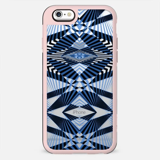 Art Deco blue stripes - clear - New Standard Case