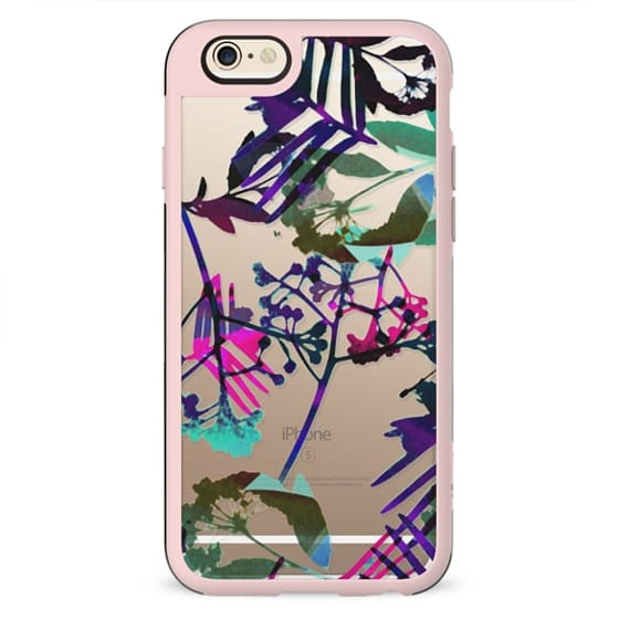 Painted flowers - clear case