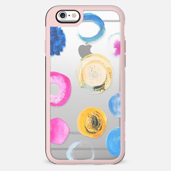 Colourful watercolor dots - clear case - New Standard Case