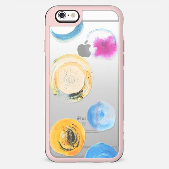 Minimal watercolor dots - clear - New Standard Case