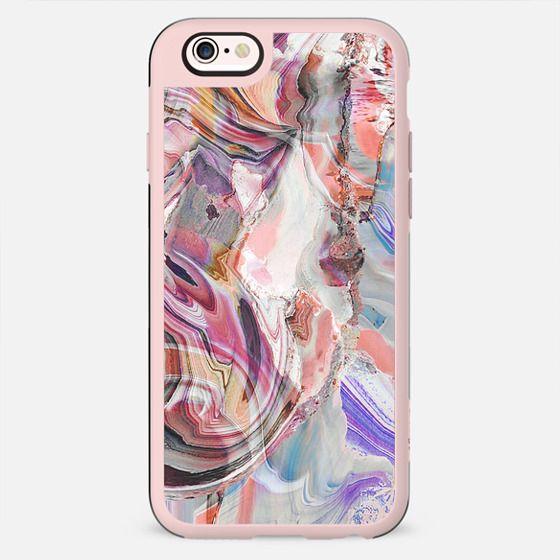 Dark pink agate marble lines - New Standard Case