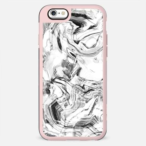 White marble smudge - New Standard Case