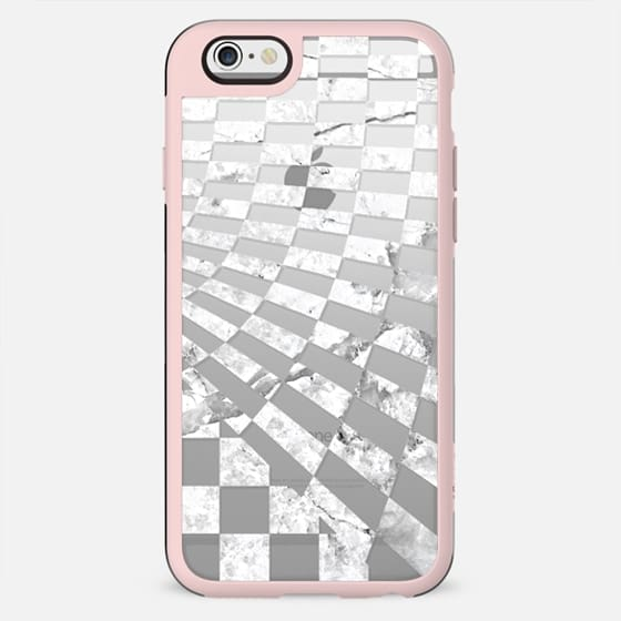 White marble checks print - New Standard Case