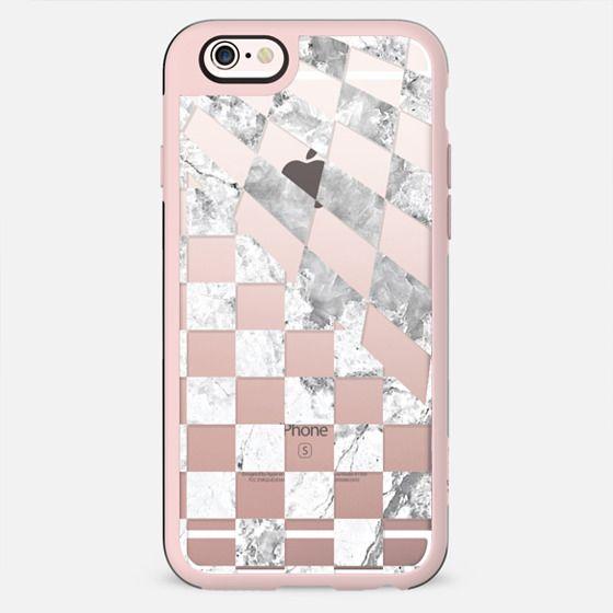 White marble checks print - New Standard Case
