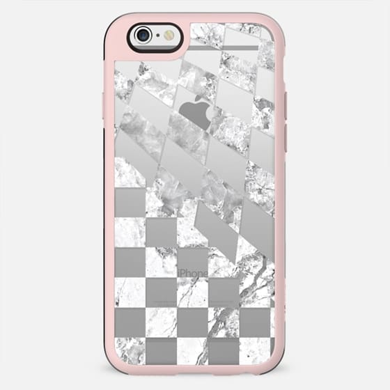 White marble checks pattern