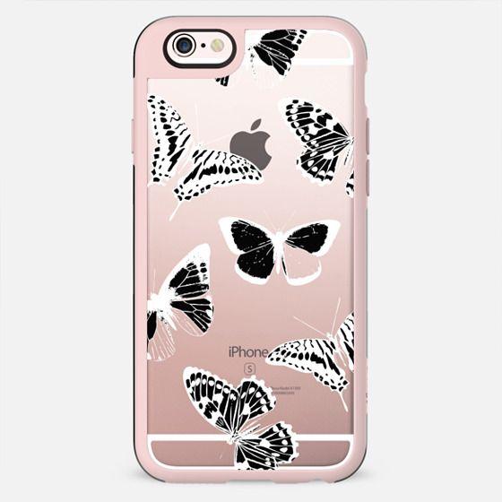White butterflies - clear case