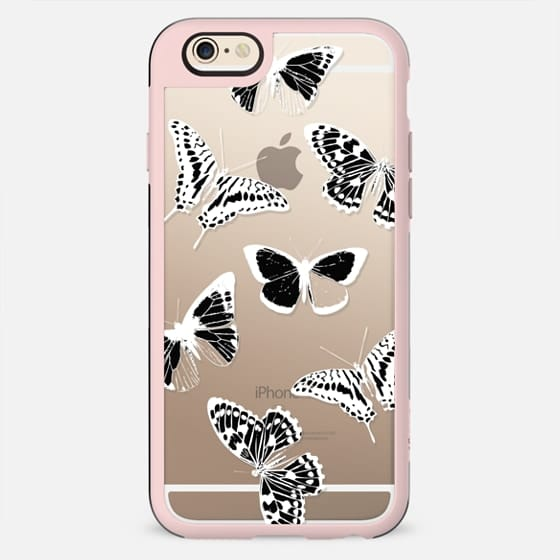 Black and white butterflies - New Standard Case