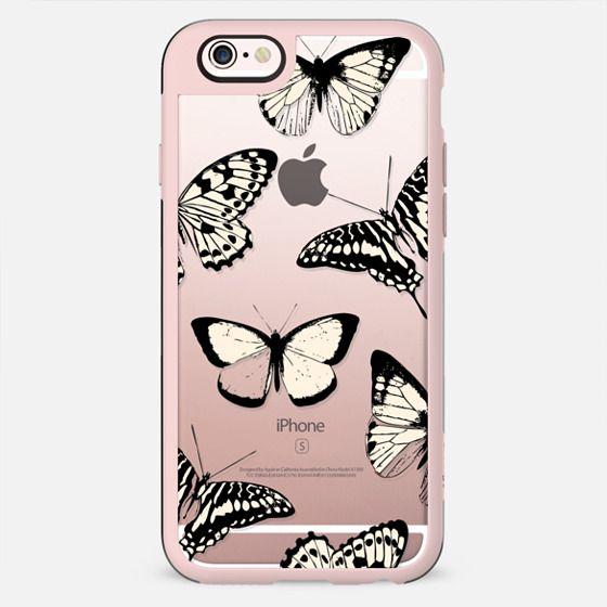 Black - yellow butterflies - New Standard Case