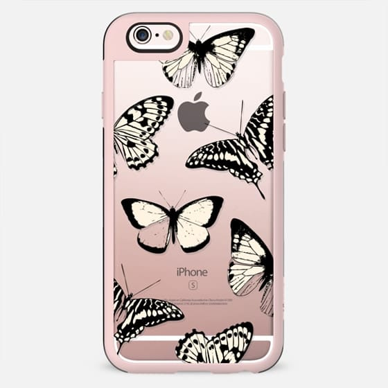 Black - yellow butterflies - New Standard Case