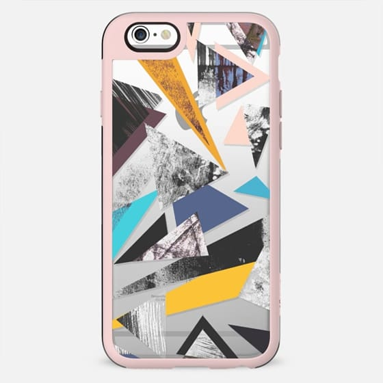 Abstract triangles painting clear case - New Standard Case