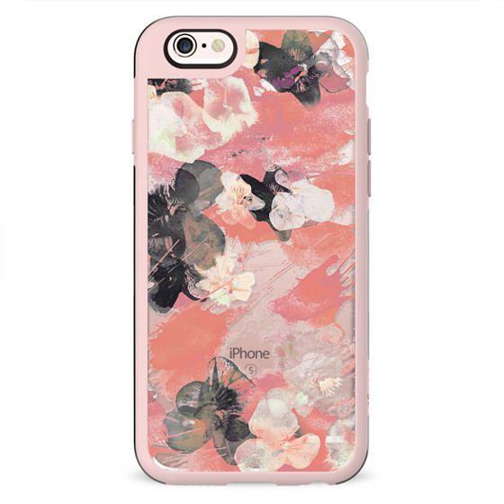 Romantic pansy petals clear case