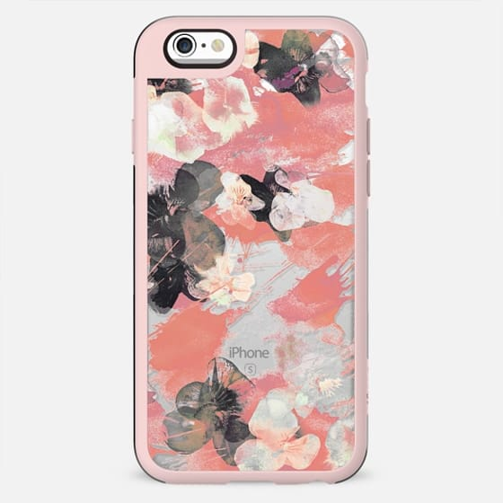 Romantic pansy petals clear case - New Standard Case