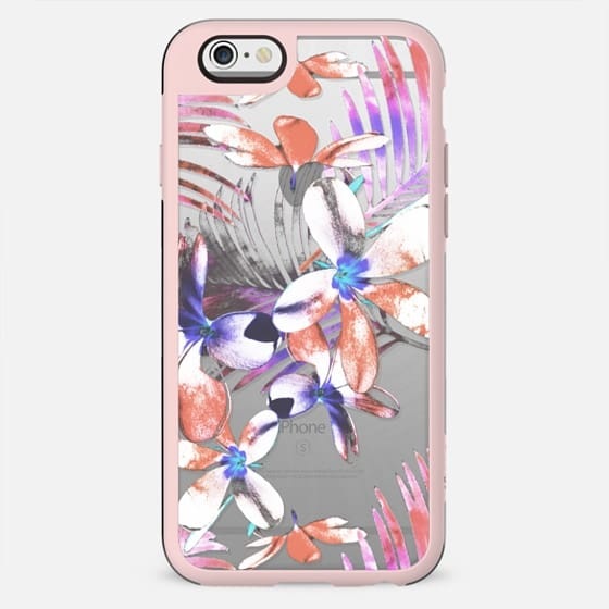 Tropical pink hibiscus and palm leaves III - New Standard Case