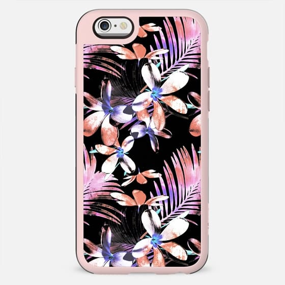 Tropical pink hibiscus and palm leaf - New Standard Case