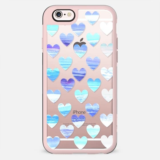Painted blue hearts - winter pattern - New Standard Case