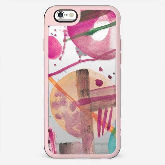 Watercolor spots clear abstract case