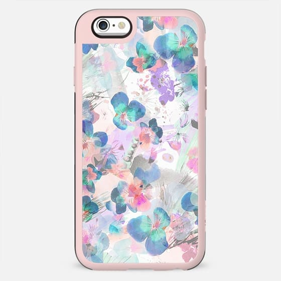 Soft watercolor pansy painting - New Standard Case