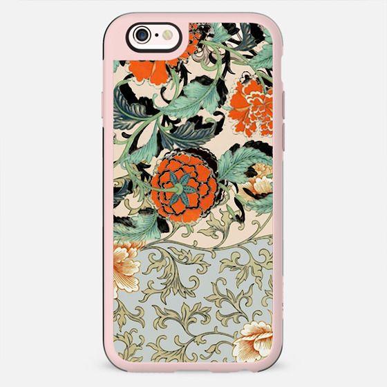 Botanical floral tapestry