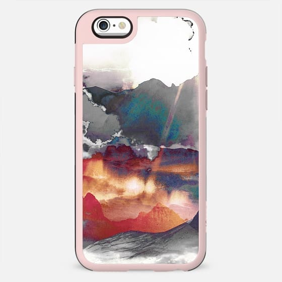 Faded painted mountain landscape - New Standard Case