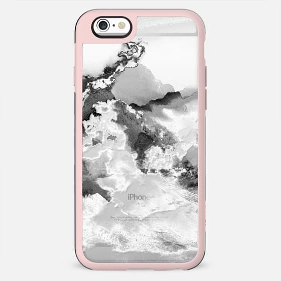 Black and white clear cloudy landscape - New Standard Case
