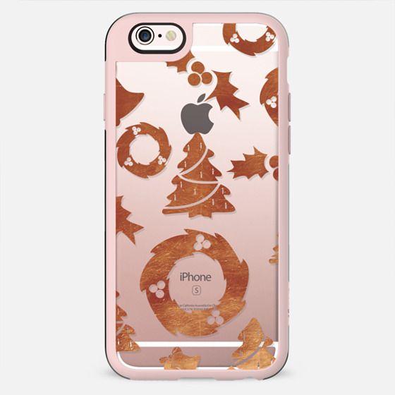 Copper foil Christmas pattern